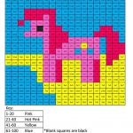3MD My Little Pony Cartoon Worksheet Multiplication - Coloring Squared