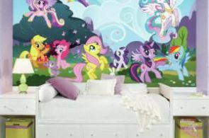 72 in. x 126 in. My Little Pony Ponyville XL Chair Rail Prepasted Wall Mural (7-...