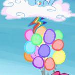 #88663 - apple, applejack, apple tree, artist:mt, balloon, butterfly, cloud, con...