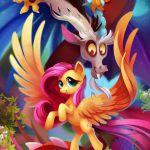 #942326 - artist:tsaoshin, discord, fluttershy, safe - Derpibooru - My Little Po...