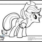 Apple Jack; My Little Pony Applejack Coloring Pages