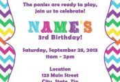 Colorful My Little Pony Invite by DTCNC on Etsy, $3.50