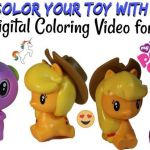 Come up close while I color Hapy Meal Toys: Apple Jack, Spike, and Rarity MLP (M...