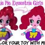 Come up close while I color Pinkie Pie from MLP (My Little Pony) Equestria Girls...