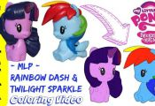 Come up close while I color Twilight Sparkle and Rainbow Dash from MLP (My Littl...