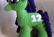 Crochet Seattle Seahawks My Little Pony by theicepalace on Etsy