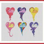 Cross stitch pattern PDF My Little Pony: Friendship Is Magic Heart Instant Downl...