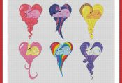 Cross stitch pattern PDF My Little Pony: Friendship Is Magic Heart Instant Downl...