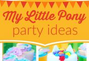 Don't miss this colorful My Little Pony birthday party! The Rainbow Dash birthda...