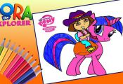 Dora the Explorer and My little pony Drawing Video for Kids!