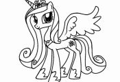 Drawn My Little Pony Princess Pencil And In Color Entrancing Luna Coloring Page