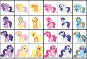 Fan Art of Pony swap colors for fans of My Little Pony Friendship is Magic.