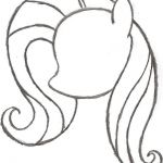 Form Of A My Little Pony Coloring Page  Coloring, form, page, Pony #cartoon #col...