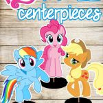 Free DIY Rainbow Dash, Apple Jack & Pinkie Pie My Little Pony Printables Talbe d...