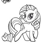Free Online My Little Pony - Rarity Colouring Page