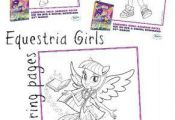 Free printable my little pony Equestria girls colouring pages for kids  Colourin...