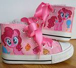 Hand painted Children My Little Pony shoes, Pinkie Pie Any size, color, characte...