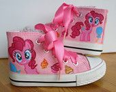 Hand-painted-Children-My-Little-Pony-shoes-Pinkie-Pie-Any-size-color-characte Hand painted Children My Little Pony shoes, Pinkie Pie Any size, color, characte... Cartoon