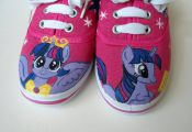 Hand painted Children My Little Pony shoes, Princess Twilight Sparkle  Any size,...
