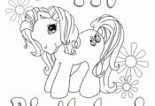 Happy Birthday My Little Pony coloring page free for kids  Birthday, Coloring, f...