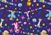 Hasbro My Little Pony Ponies and Names Purple from Fabric.com Licensed by Hasbro...
