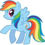 How to draw Rainbow Dash from My Little Pony with easy step by step drawing tuto...