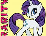 How to draw Rarity from My Little Pony with easy step by step drawing tutorial