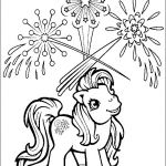 Image detail for -coloring page with my little pony and fireworks coloring page