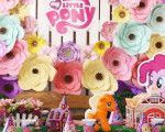 Kid table from a My Little Pony Birthday Party via Kara's Party Ideas | KarasPar...
