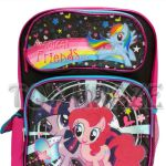 MY LITTLE PONY BACKPACK! BLACK COLORFUL MAGICAL FRIENDS SCHOOL BOOK BAG 16 NWT