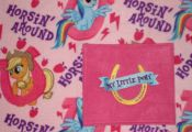 MY LITTLE PONY Embroidered Fleece Tied Blanket My Little Ponies Horseshoe Fleece...