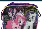 MY LITTLE PONY LUNCH BOX! BLACK COLORFUL GIRLS INSULATED SCHOOL BAG TOTE NWT