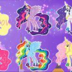 MY LITTLE PONY Transforms Mane 6 Into Princesses MLP Color Swap
