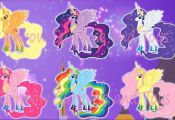 MY LITTLE PONY Transforms Mane 6 Into Princesses MLP Color Swap