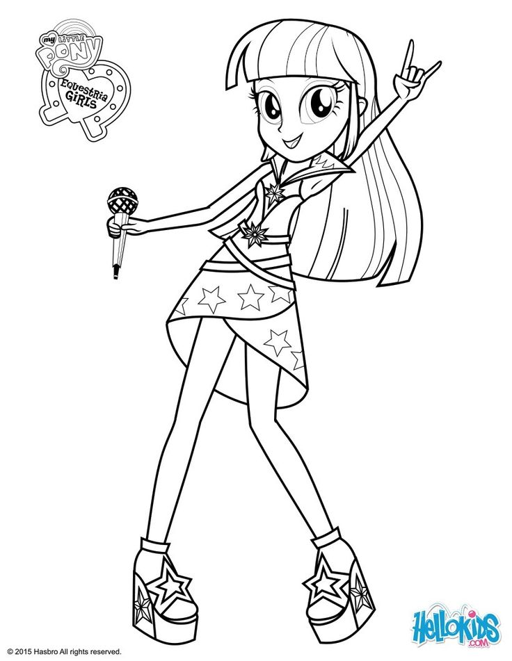 my little pony coloring pages  twilight sparkle sings
