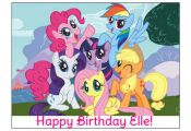 MY LITTLE PONY image cake topper decoration party birthday Custom cupcake round