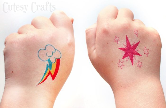 Make-these-temporary-My-Little-Pony-tattoos-for-a-birthday-party-or-just-for-fun Make these temporary My Little Pony tattoos for a birthday party or just for fun... Cartoon