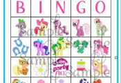 My LIttle Pony BINGO game personalized by ckfireboots on Etsy, $13.00