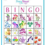My LIttle Pony BINGO game personalized by ckfireboots on Etsy, $13.00  Bingo, ck...