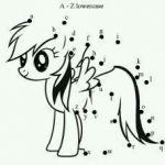My Little Pony ABC dot to dot printout.   G;)