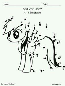 My-Little-Pony-ABC-dot-to-dot-printout.-G My Little Pony ABC dot to dot printout.   G;) Cartoon