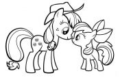My Little Pony Applejack and Apple Bloom Coloring Page – DownloadPrint My Litt...