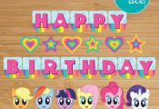 My Little Pony Banner Printable Birthday Party Decoration