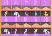 My Little Pony Birthday Banner Chalkboard by SometimesPie
