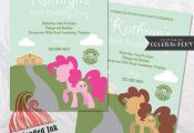 My Little Pony Birthday Party Invitation by RedHeadedInk on Etsy