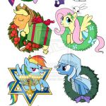 My Little Pony Christmas and Holiday Ornaments by ~SouthParkTaoist on deviantART
