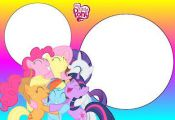 My Little Pony Color Clear – Full Kit with frames for invitations, labels for ...