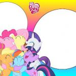 My Little Pony Color Clear - Full Kit with frames for invitations, labels for go...