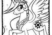 My Little Pony Coloring Page 7 cakepins.com