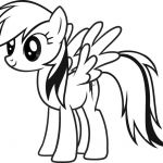 My Little Pony Coloring Pages: Free My Little Pony Rainbow Dash Coloring Page